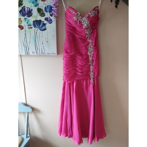 Jovani Dresses & Skirts - Jovani Fuchsia Sequin Mermaid Prom Dress